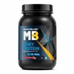Strawberry Flavour Muscleblaze Whey Protein