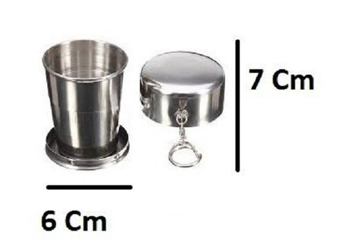 c2dce7c702f BRIDGE2SHOPPING Portable Folding Stainless Steel Travel Mug Cup  Glass/Camping Water Glass