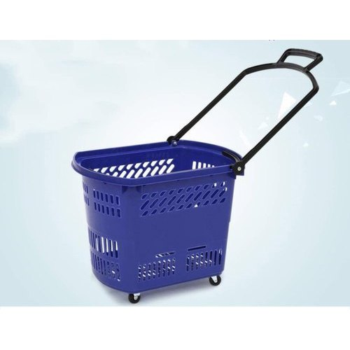 ERA Four-Wheel Plastic Shopping Trolley, Capacity: 10-20 Kg