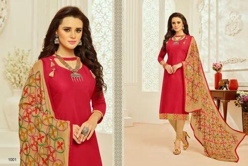 5f36c0007d Party Wear 3/4 Sleeve Monalisa Salwar Suit Fabric, Rs 695 /piece ...