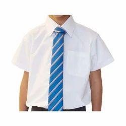White Cotton School Uniform Shirt
