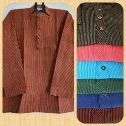 Shirt length Round Neck Full Sleeve Short Kurta, Chinese
