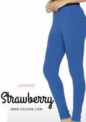 Strawberry Casual Wear Ladies Plain Leggings