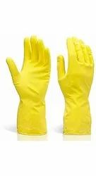 Metro Rubber Hand Gloves Latex  Soft & Textured Non Slip Grip
