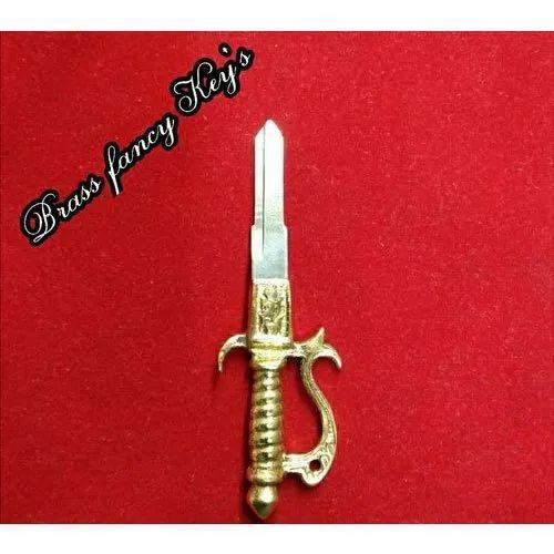 71bf129f0698e1 Gold Polish SN Motorbike Brass Fancy Key, Rs 40 /piece M/s S. N. ...