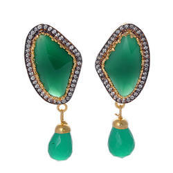 Cubic Zirconia Color Stone Earring