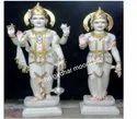 Lord Vishnu Laxmi Marble Statue