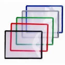 Plastic Rectangular Magnetic Folder, Paper Size: A4, for School