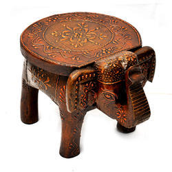 Painted Elephant Stool