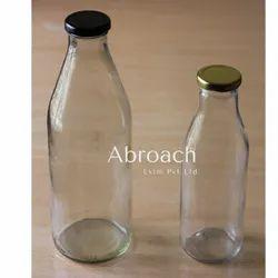 Lug Type Cap Round 1000ml Glass Milk Bottle