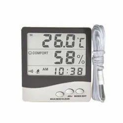 Thermo Hygrometer with Clock and Probe