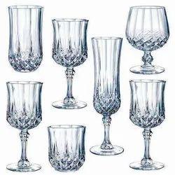 DD White Glass Crockery
