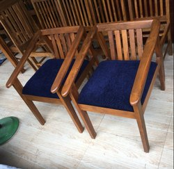 2 Modern Teak Wooden Arm Chair