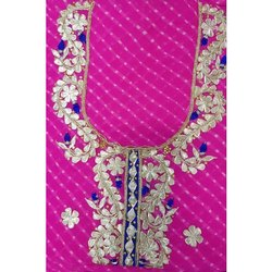 Maati-The Boutique Pink Embroidered Salwar Suit Fabric