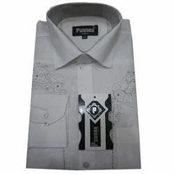 White Pattern Formal Shirts