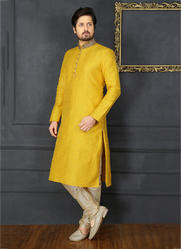 Banarasi Silk Kurta Pajama For Pithi Ceremony