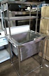 Silver Stainless Steel Table Sinks