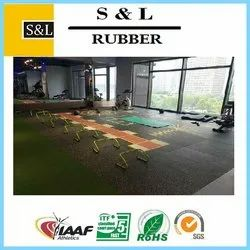 Smooth Matte Gym Rubber Flooring, For Indoor And Outdoor, Thickness: 10 mm To 35 mm