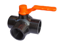 Plastic Three Way Ball Valve
