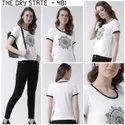White Ladies Printed T-Shirt