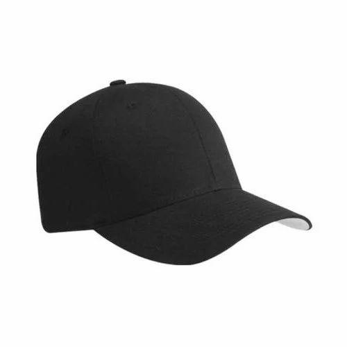 Black Plain Cotton Cap 2ca2417aa05