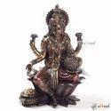 Arvind Handicrafts Metal Laxmi Statue