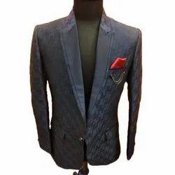Benaloons Imported Mens Navy Blue Designer Blazer, Size: 40 Inch