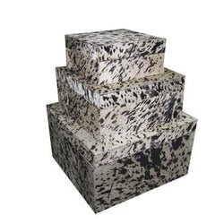 Three Step Leatherette Storage Box