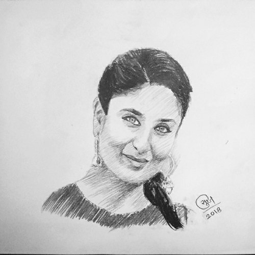 Charcoal Pencil Drawing gift, Size: 11x14, Rs 300 /piece ...