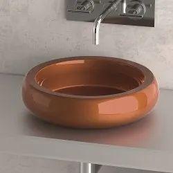 Brown Designer Ceramic Sink