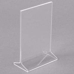 Masarrat Acrylic Menu Holder, Price Display Stand, A5 Size