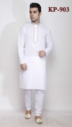 Plain linen Kurta Pyjamas For Gents