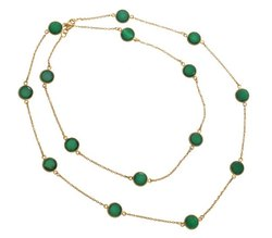 Green Onyx Gemstone Necklace