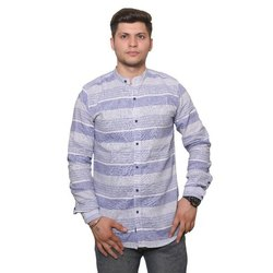 Mark Jillion Mens Striped Shirts, Size: 32-42