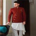 Stitched Regular Fit Party Wear Designer Sherwani