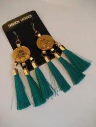 Motif Tassels Fabric Fashion Earrings