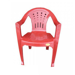 Red Unbreakable Plastic High Back Chair for Indoor
