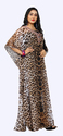 Women''s Animal Printed Georgette Kaftan 2018
