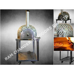 Wood Fired Pizza Oven In Mosaic Tiles