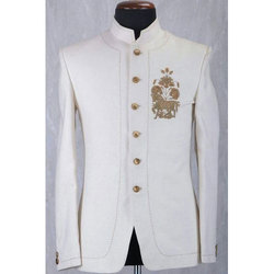 White Modern Jodhpuri Suit