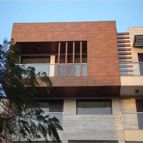 Wood Finish Elevation Tiles : Wood front elevation wall panel rs square feet avs