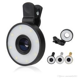 6-in-1 Smartphone Clip On Multi Camera Lens with LED Flash Light