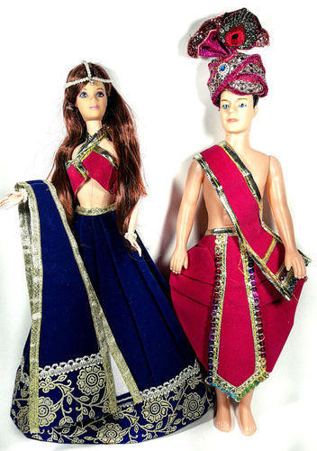 Royal Indian Barbie Wedding Beautiful Couple Doll Gift Set At Rs 999