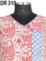Cotton Hand Block Printed Women Long Wrap Dress DR319