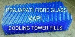 blue & black PVC FILLS, 0.25mm., Size: 600 X 300 X 150