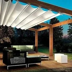 White Retractable Awning