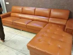 L Corner Leather Sofa Set