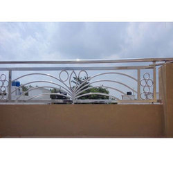 Silver Stainless Steel Balcony Railing