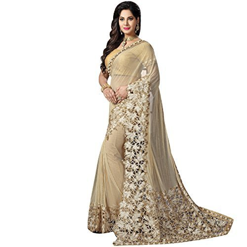 348fbe42bc Net Party Wear Embroidered Saree, Length: 6 M, Rs 4500 /piece | ID ...