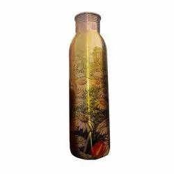 Printed Copper Water Bottle, Packaging Type: Box, Capacity: 500 Ml